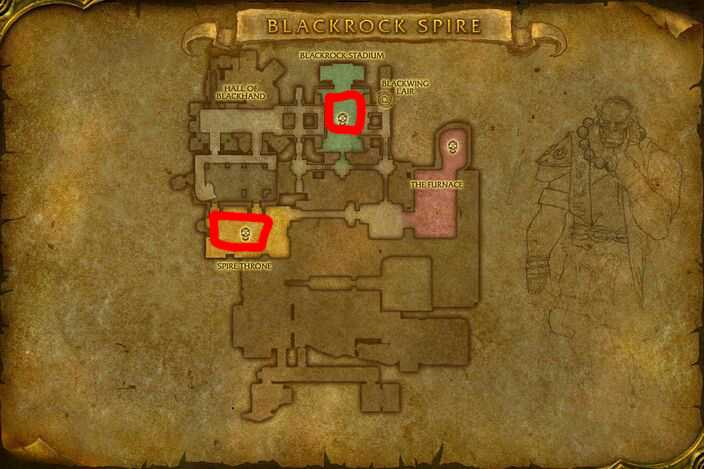 Map of Where to skin at Blackrock Spire for Blue Dragonscale