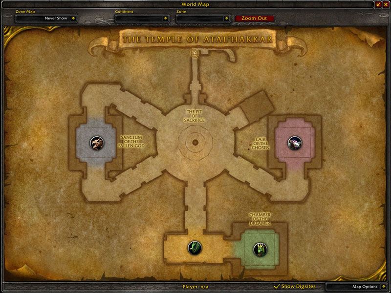 Map of Where to farm cloth at Sunken Temple for Runecloth
