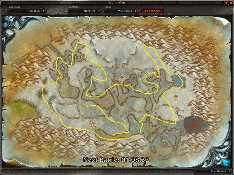 Map of Where to farm herbs at Wintergrasp for Icethorn