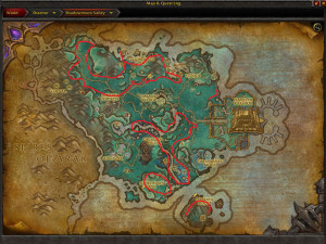 Map of Where to farm Frostweed in Shadowmoon Valley