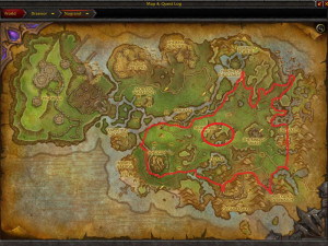 Map of Where to mine True Iron Ore in Nagrand