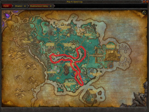 Map of Where to farm Chameleon Lotus in Shadowmoon Valley