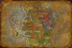 Map of Where to farm Dreamleaf in Val'Sharah