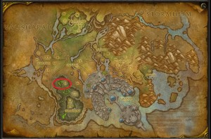 Map of Where to farm Felslate in Suramar