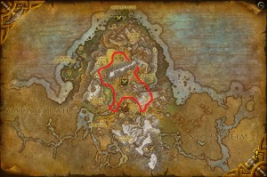 Map of Where to farm Foxflower in Highmountain