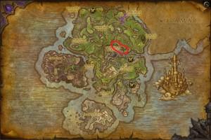 Map of Where to farm Leystone in Azsuna