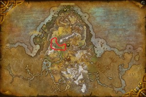 Map of Where to farm Stonehide Leather in Highmountain